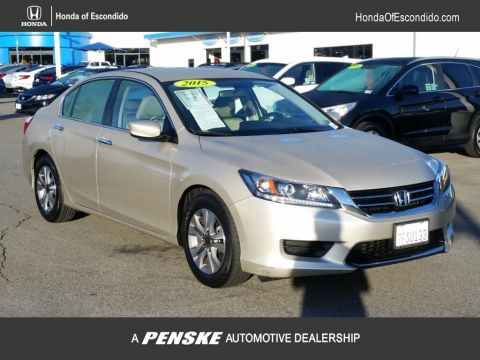 Certified Pre-Owned 2015 Honda Accord Sedan 4dr I4 CVT LX Front Wheel Drive Sedan