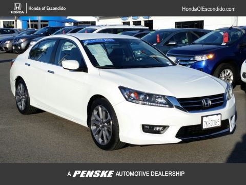 Certified Pre-Owned 2015 Honda Accord Sedan 4dr I4 CVT Sport PZEV Front Wheel Drive Sedan