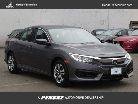 New 2018 Honda Civic Sedan LX CVT Front Wheel Drive Sedan