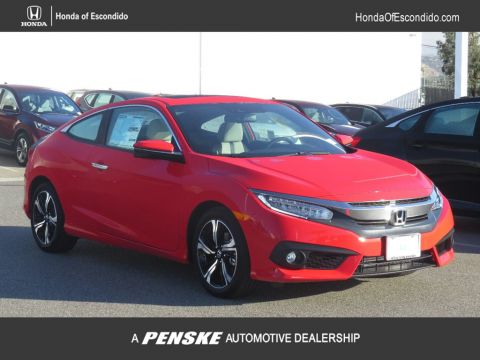New 2018 Honda Civic Coupe Touring CVT Front Wheel Drive Coupe