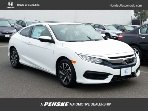 New 2018 Honda Civic Coupe LX CVT Front Wheel Drive Coupe