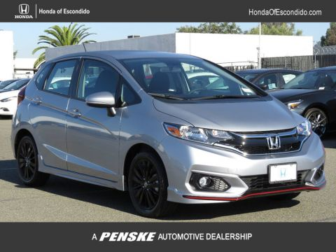 New 2018 Honda Fit Sport CVT Front Wheel Drive Sedan