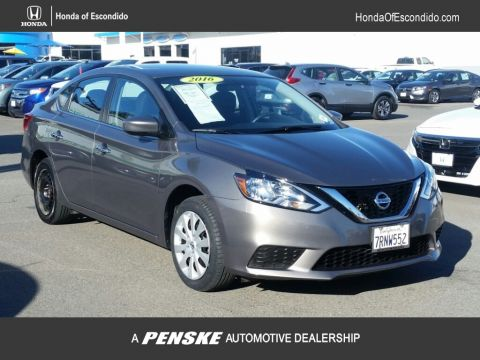 Pre-Owned 2016 Nissan Sentra 4dr Sedan I4 CVT SV Front Wheel Drive Sedan