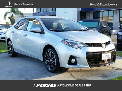 Pre-Owned 2015 Toyota Corolla 4dr Sedan CVT S Plus Front Wheel Drive Sedan