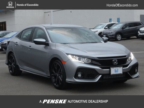 New 2018 Honda Civic Hatchback Sport Manual Front Wheel Drive Sedan