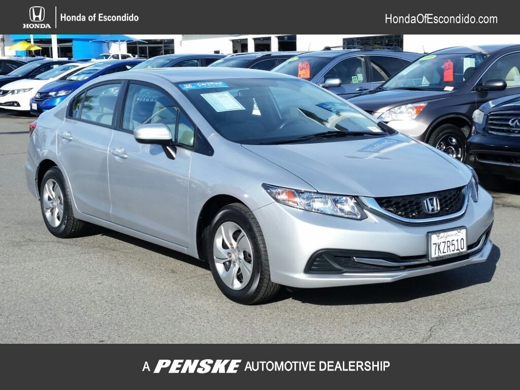 Certified Pre-Owned 2015 Honda Civic Sedan 4dr CVT LX