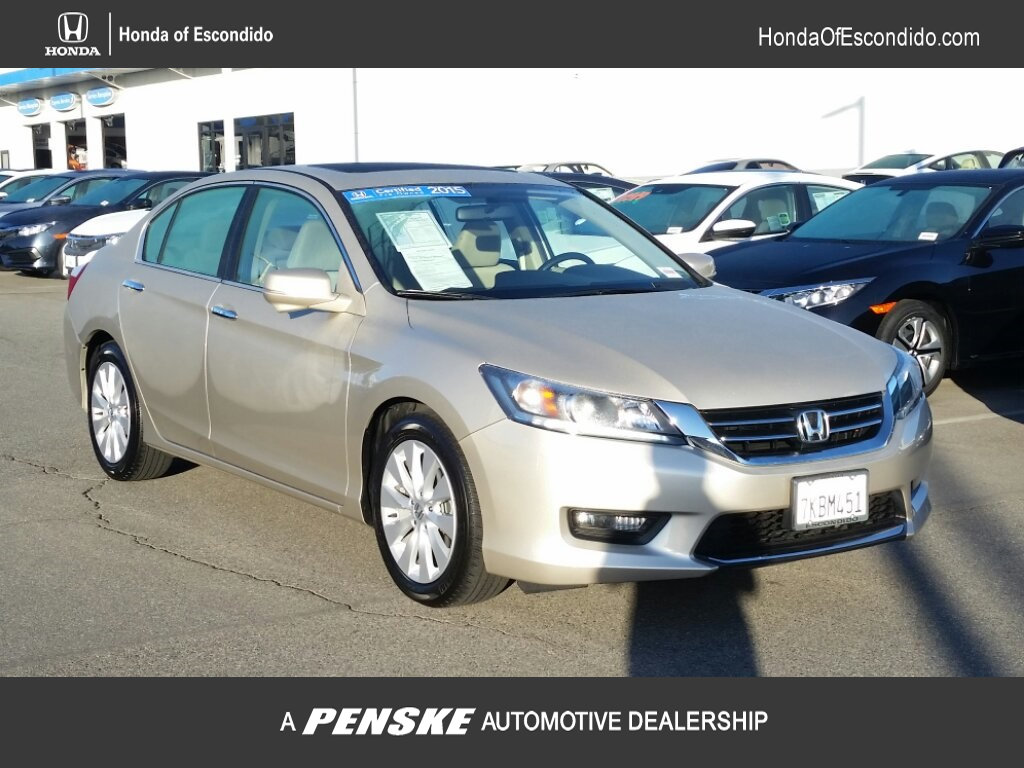 Certified Pre-Owned 2015 Honda Accord Sedan 4dr I4 CVT EX PZEV
