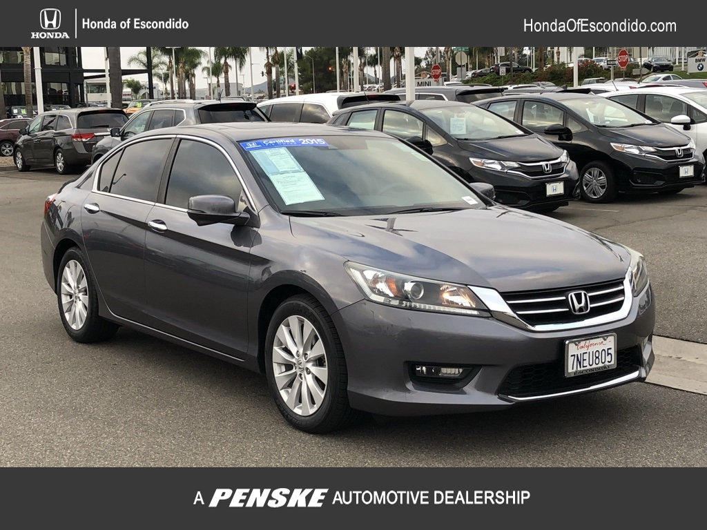 Certified Pre Owned 2015 Honda Accord Sedan 4dr I4 CVT EX L