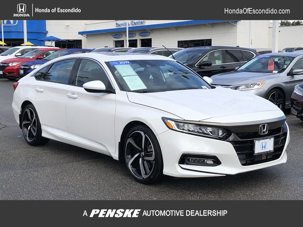Certified Pre-Owned 2019 Honda Accord Sedan Sport 2.0T Automatic