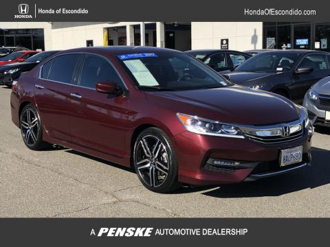 Certified Pre-Owned 2017 Honda Accord Sedan Sport CVT PZEV